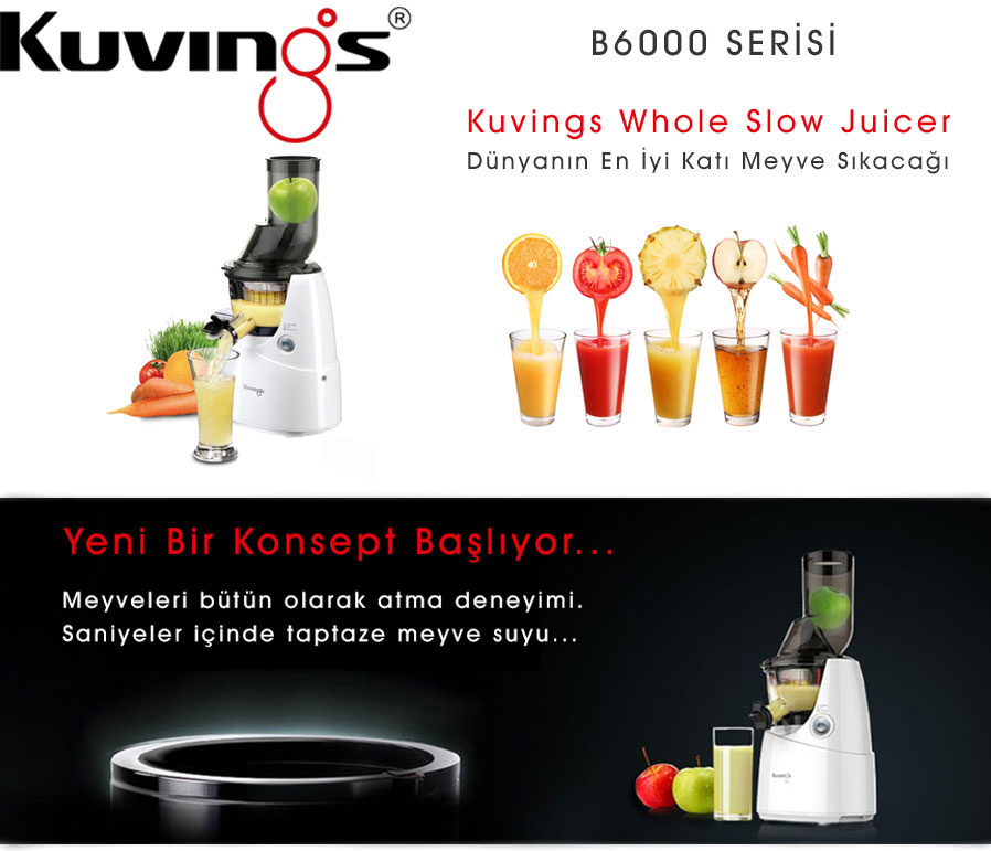 KUvINGS B6000PR WHOLE SLOW JUICER - Kuvings Turkiye
